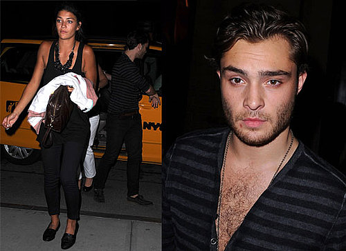 Photos Of Ed Westwick and Girlfriend Jessica Szohr Celebrating Ed's 22nd Birthday In New York