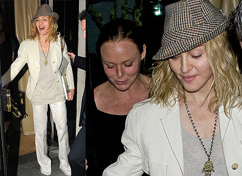 Photos Of Madonna and Stella McCartney Out For Dinner In London. Madonna and Robbie Wiliams For The X Factor