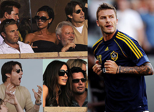 Photos Of David Beckham Playing with LA Galaxy, Against AC Milan With Gary Barlow, Victoria Beckham, Tom Cruise Watching