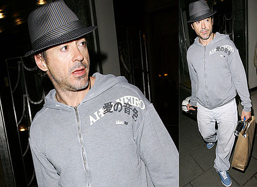 Photos Of Robert Downey Jr Leaving Claridge's Hotel In London
