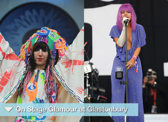 Photos of Stage at Glastonbury Bat for Lashes, Karen O, Fergie, VV Brown, Little Boots, Lady Gaga
