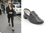 Photos of Kate Moss Black Patent Loafers, Repetto, Jackson