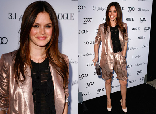 Photos of Rachel Bilson at Phillip Lim Party Los Angeles Metallic Suit
