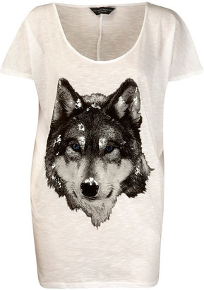 Wolf Print T-shirts, Tops, Eighties