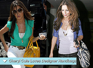 Photos of Cheryl Cole with Designer Handbags