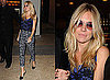 Sienna Miller in New York City on It's On with Alexa Chung, Leopard Print Trousers
