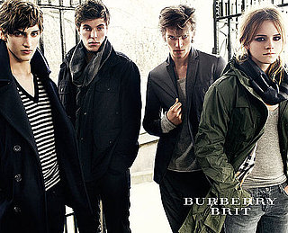 Photos of Emma Watson for Burberry, Mario Testino, Autumn 2009, Fall, Male Models, Parka