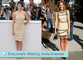 Photos of Celebrities in Nude Dresses, Angelina Jolie, Emma Watson, Penelope Cruz