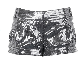 River Island Silver Sequin Shorts Hot Pants