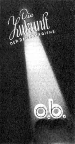 For that menacing time of the month: an O.B. ad from the 1950s.