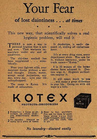Live your life unhandicapped with Kotex.