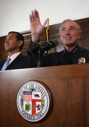 LAPD Chief William J. Bratton Waxes Philosophical as He Resigns From His Post