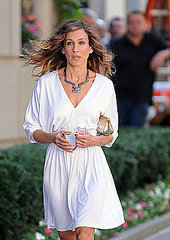 Sarah Jessica Parker on the set of the new ''Sex and the City'' movie