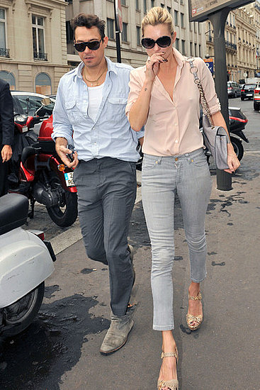 Kate Moss and Jamie Hince head to lunch at L'Avenue restaurant and later hit Prada