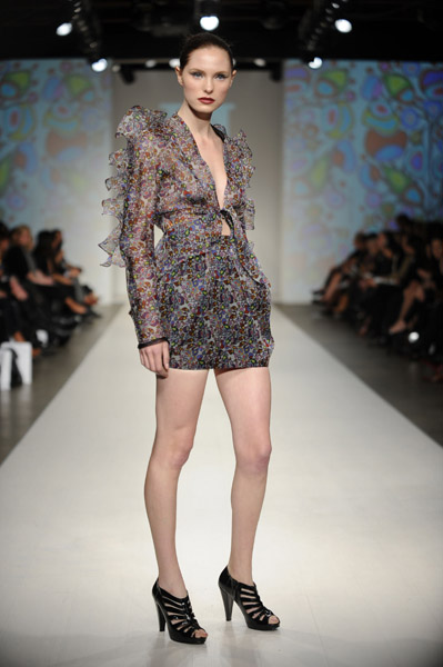 A look from Reva Mivasagar's Spring 2010 Collection on 10/21/09