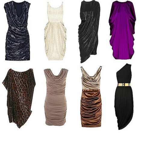 Shopping: Draped Party Dresses