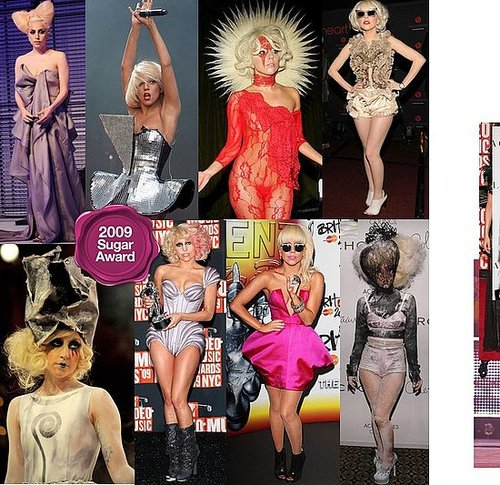 Lady Gaga, Best fashion risk taker of 2009: 2009 Sugar Awards