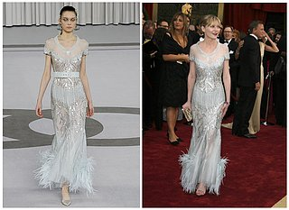 The Oscars Gowns Runway vs. Red Carpet