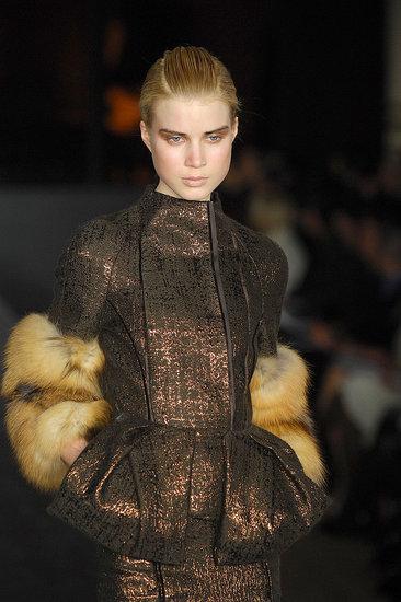 Metallic and Fur Sleeves at J. Mendel