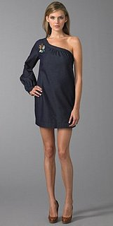 7 For All Mankind One Shoulder Denim Mini Dress: Love It or Hate It?