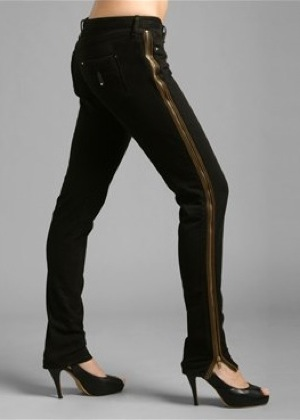 Twenty8Twelve Skinny Jeans with Side Zip by Sienna and Savannah Miller