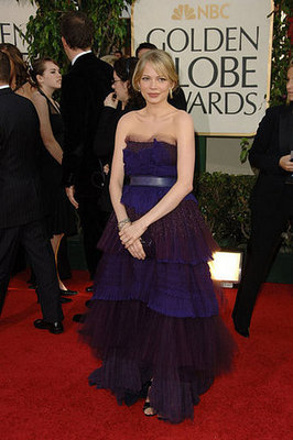 Michelle Williams Is Girly in Purple Tiered Marc Jacobs in 2006