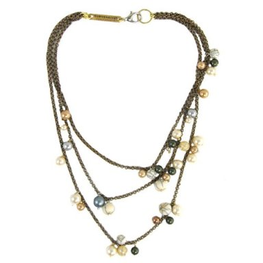 Subversive for Target 3-Strand Saturn Beaded Pearl Necklace