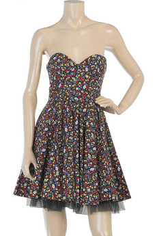 Guess Who Designed This Micro Floral Print Dress?
