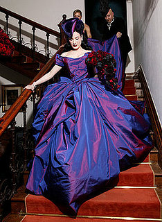 Freaky or Fabulous? Dita Von Teese's Purple Vivienne Westwood Wedding Dress