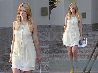 Mischa Barton Brings Her Serious Sad Face to Church