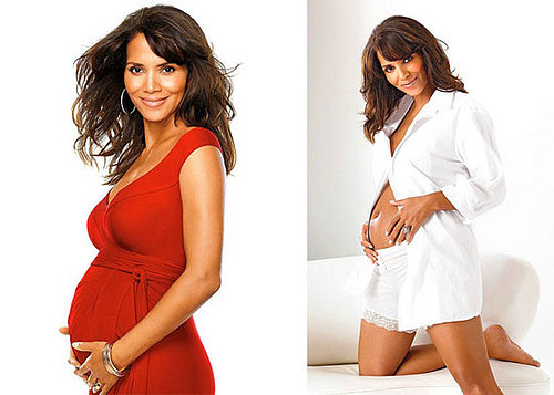 Halle Bares Her Berry Belly in InStyle