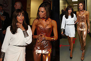 Eva Longoria with Victoria Beckham After Spice Girls Concert