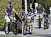 David Beckham Rides A Bike With Romeo Beckham and Brooklyn Beckham