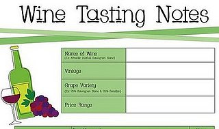 Sugar Shout Out: Download Wine Tasting Notes!