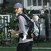 Bridget Moynahan Walks with Son John Moynahan