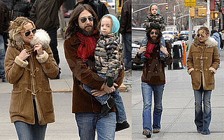 Kate and Ryder Catch Up With Chris For NYC Shoulder Rides