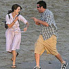 Keri Russell and Adam Sandler on the Set of Bedtime Stories 2008-03-12 11:22:21