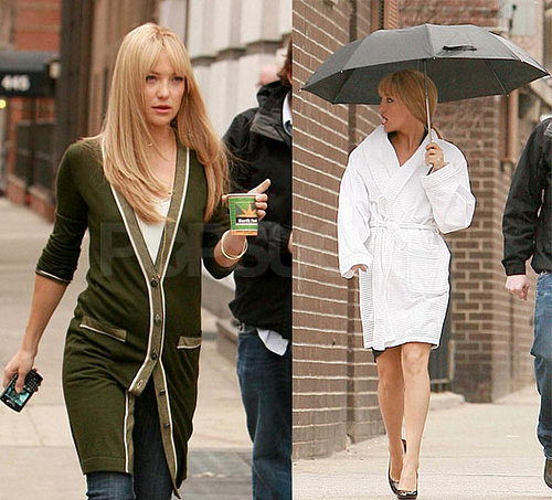 Kate Hudson On The Set Of Bride Wars In New York