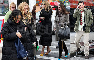 Michelle Trachtenberg on the Set of Gossip Girl