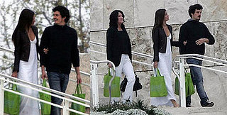 Orlando Bloom with Girlfriend Miranda Kerr and Her Mother Therese in LA