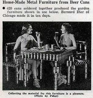 Beer Can Garden Furniture