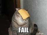 Cat Gets Cheesed: Fail