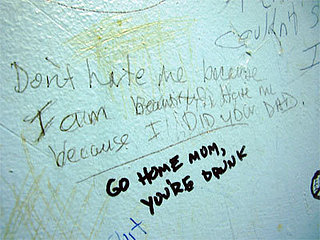 Funny Bathroom Wall Writing