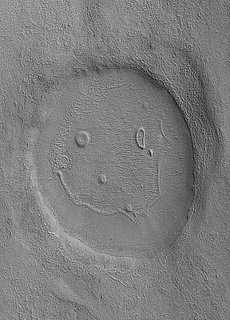 Mars Crater Has a Smiley Face