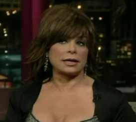 Paula Abdul on The Late Show With David Letterman