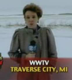 Reporter Gets Snow Ploughed