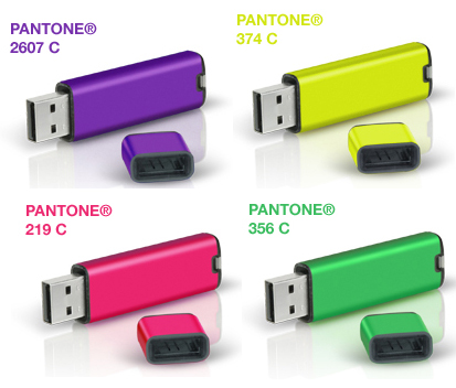 Get Personal With Pantone's Colorful Flash Drives
