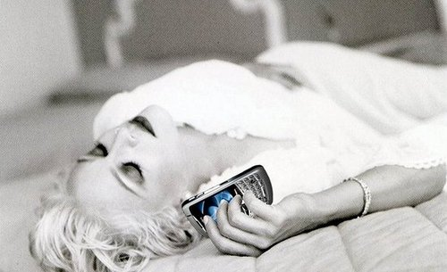 Madonna Sleeps With Her BlackBerry
