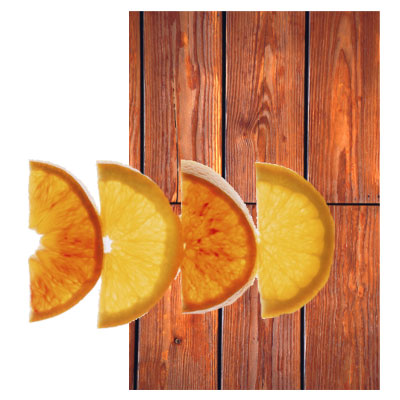 Orange Peel and Natural Wood