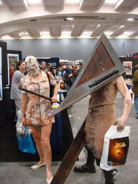 Nurse and Triangle Head from <b>Silent Hill</b>